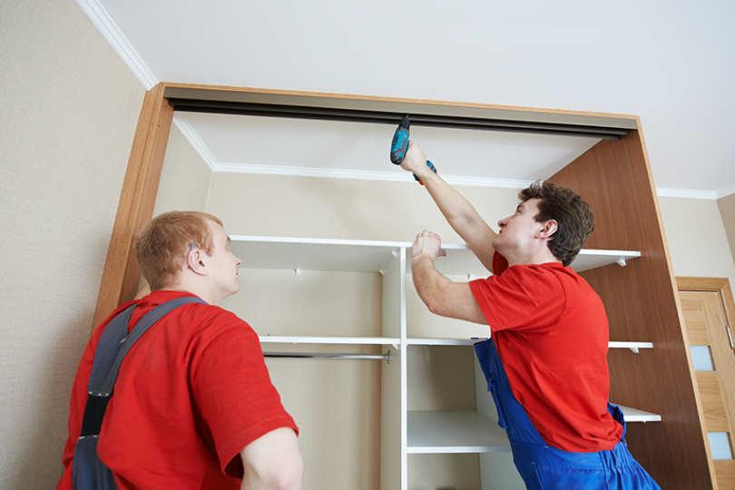 Как сделать ремонт если встроенный шкаф 323